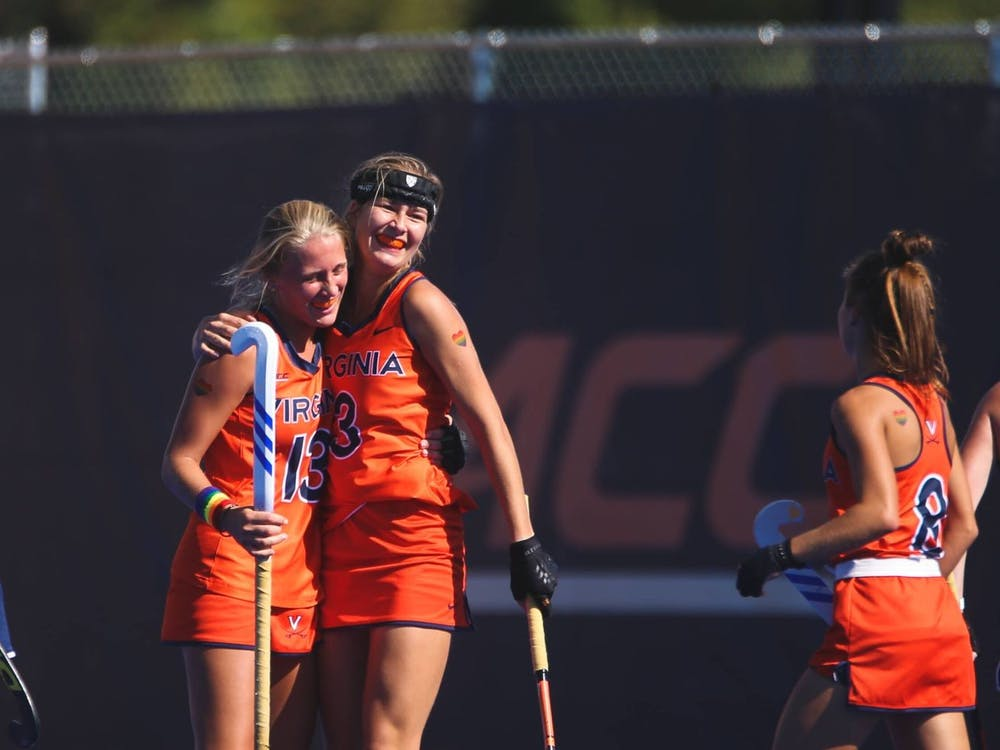 Virginia sophomore midfielder Anneloes Knol celebrates after scoring her first goal of the season against Drexel Sunday