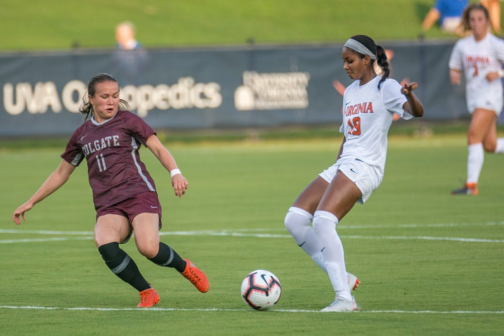 <p>Freshman forward Rebecca Jarrett looks to continue spearheading strong offense for Virginia in its big weekend on the road.&nbsp;</p>