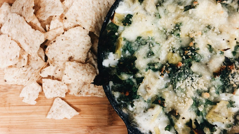 I set out to think differently about how kale could be used, such as with this kale artichoke dip, which makes for the perfect warm and indulgent fall dish.