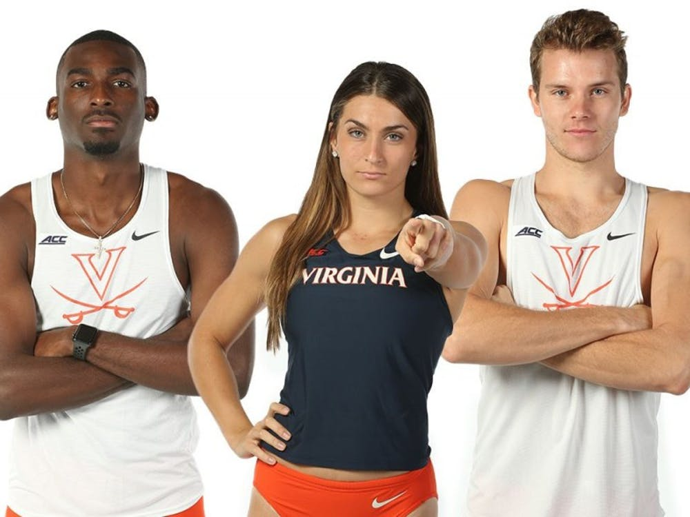 Jordan Scott, Bridget Guy and Brenton Foster (pictured left to right) all qualified for the NCAA Indoor Championships.