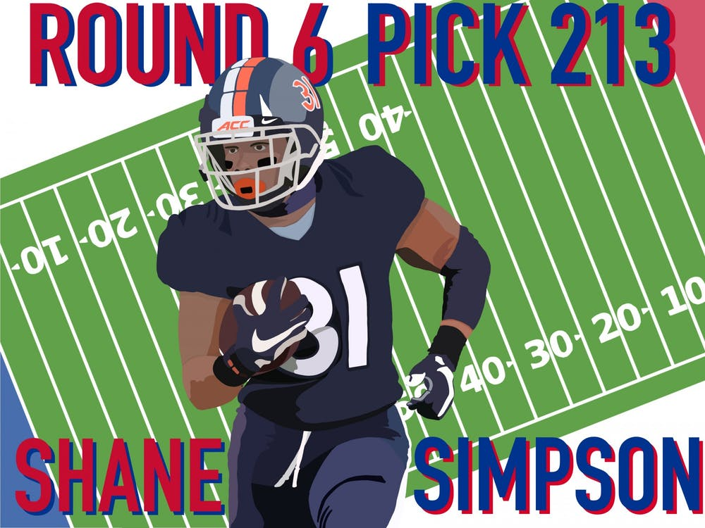 Coming off of a strong season at Virginia, running back Shane Simpson has generated buzz among scouts as a mid to late-round pick in the draft.