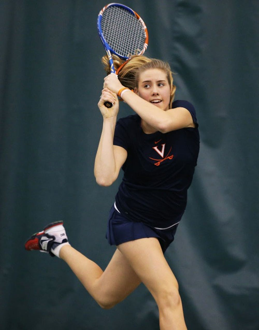 <p>Rachel Pierson clinched the Cavalier victory with a 6-1, 6-2 victory. </p>