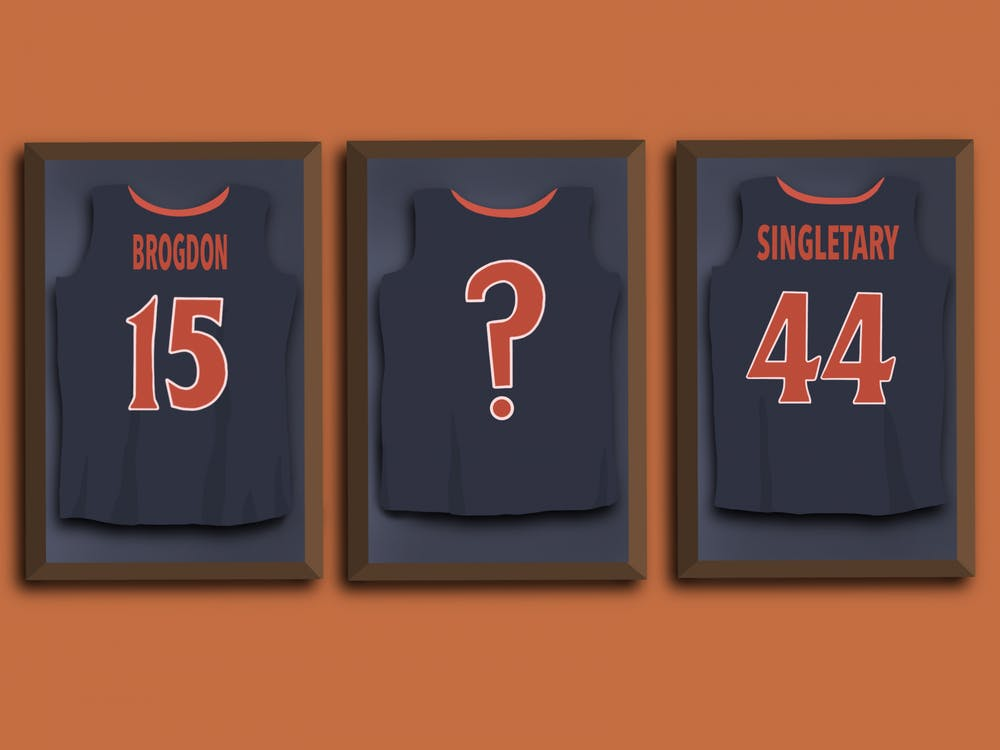Singletary and Brogdon had their jerseys raised up in 2009 and 2017, respectively.