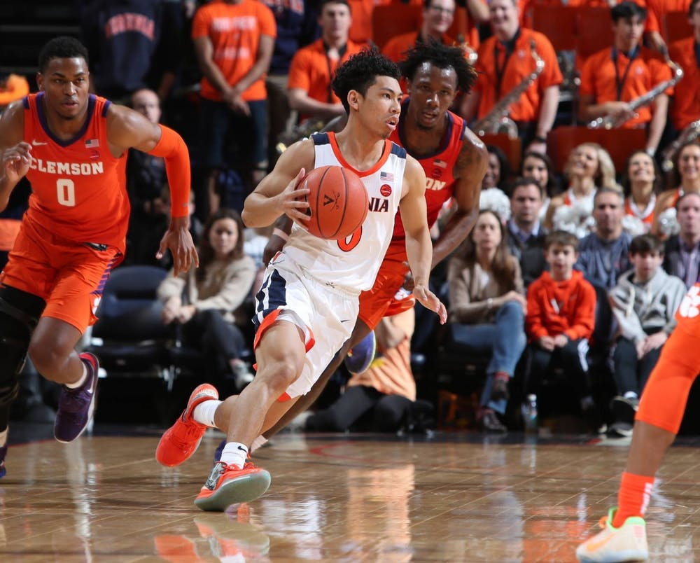 <p>Junior guard Kihei Clark will look to lead the Cavaliers to their 11th straight win against the Tigers.&nbsp;</p>
