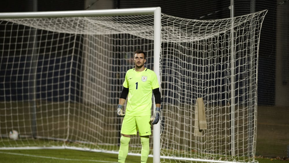 Graduate student goalkeeper Colin Shutler was the last Cavalier picked in the 2021 SuperDraft, ending his decorated Virginia career with 24 shutouts — the third most in program history.