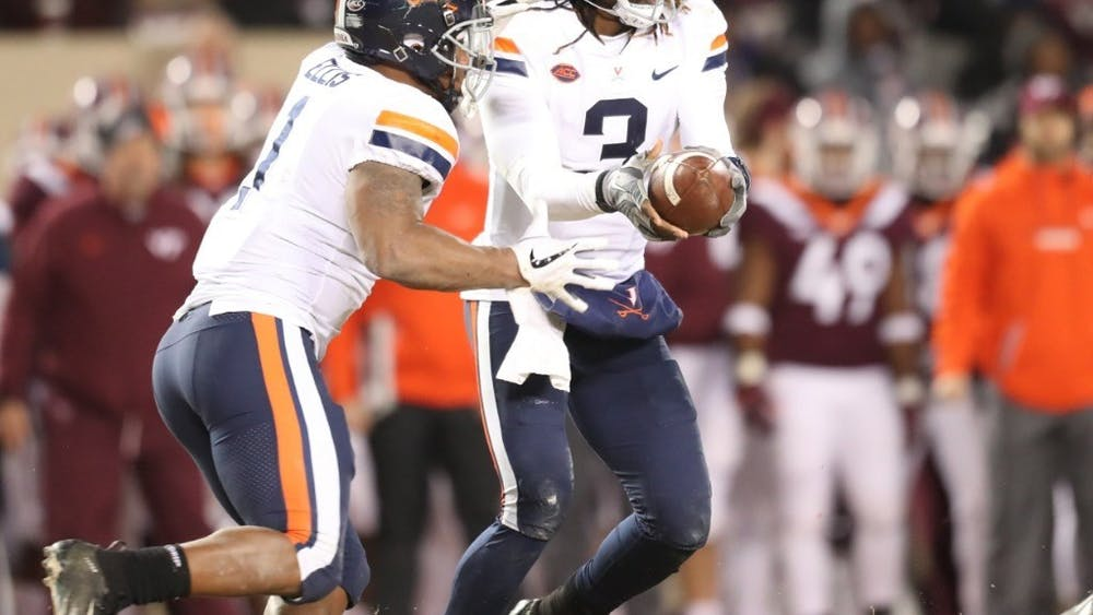 Last year, Bryce Perkins' fumbled handoff to Jordan Ellis prevented Virginia from winning in overtime against Virginia Tech at Lane Stadium.