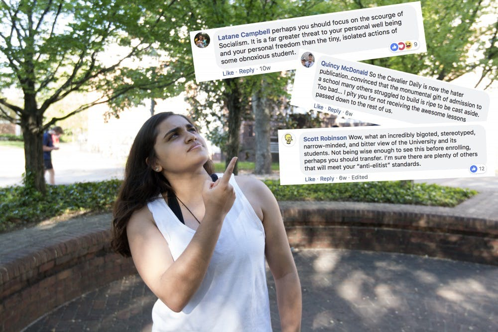 <p>Humor columnist Alisha Kohli gives her take on Cavalier Daily Facebook commenters.</p>
