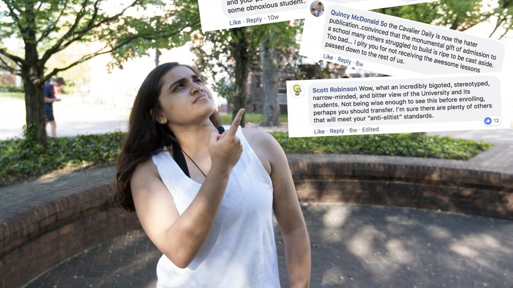 Humor columnist Alisha Kohli gives her take on Cavalier Daily Facebook commenters.