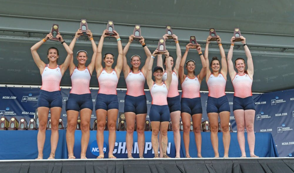 <p>The Second Varsity Eight boat battled to a third-place finish after posting a time 6:28.264.</p>