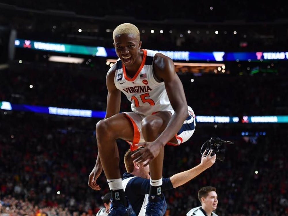 Junior forward Mamadi Diakite joins three of his teammates in declaring for the NBA Draft.