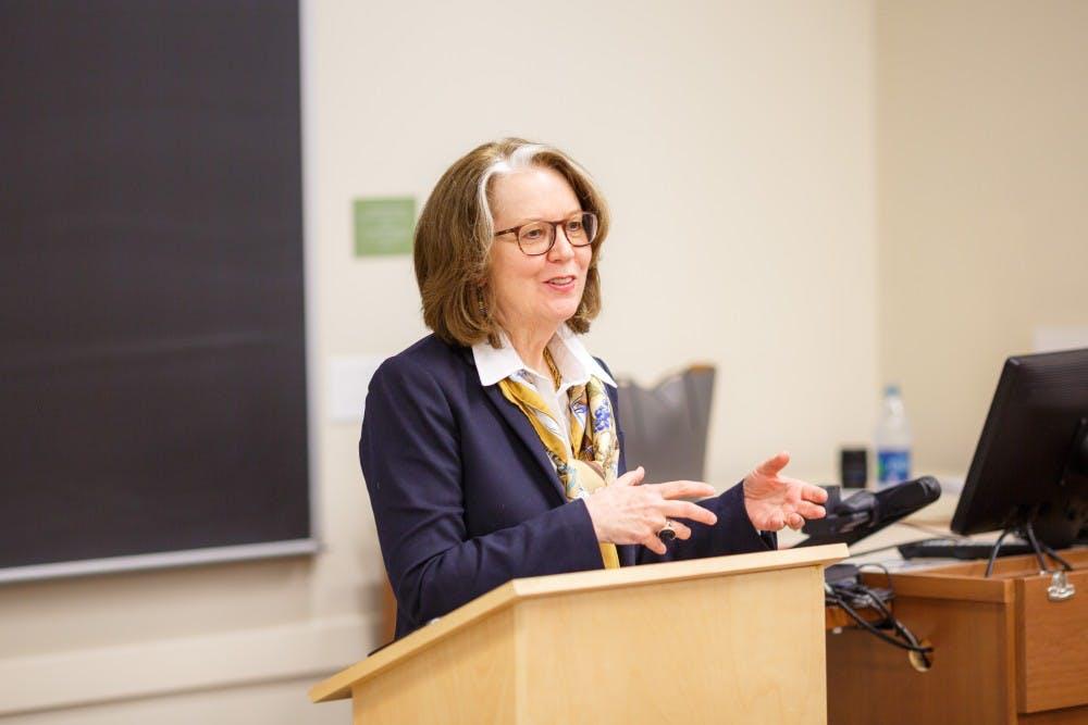 <p>Hampl is an English professor at the University of Minnesota, where she teaches creative writing.</p>