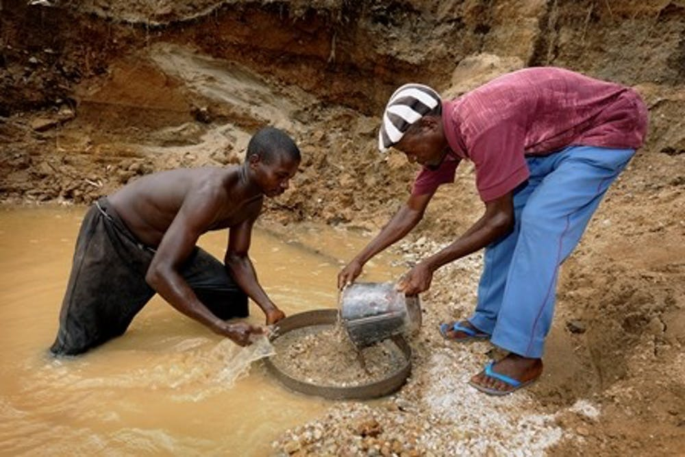 <p>Diamond miners in Africa often work in exploitative conditions, and the profits are sometimes funneled into waging destructive wars</p>