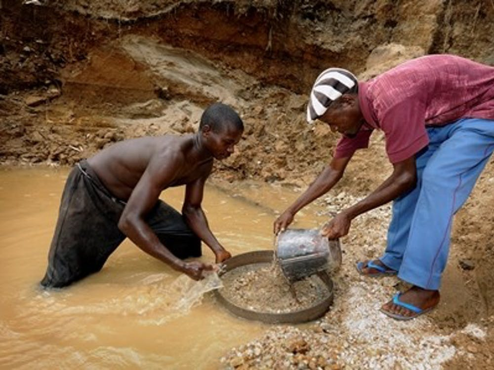 Diamond miners in Africa often work in exploitative conditions, and the profits are sometimes funneled into waging destructive wars