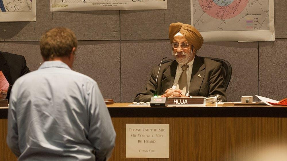 Charlottesville Mayor Satyendra Huja (above) will urge city residents to conserve water.
