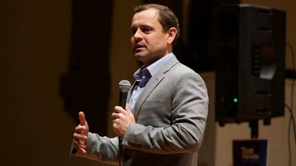 Perriello outlined the ways he thinks his progressive agenda would lead the Democrats to a gubernatorial win this fall.