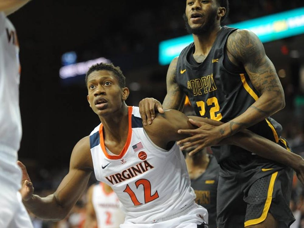 Sophomore forward De'Andre Hunter led the Cavaliers with 23 points Thursday afternoon against Dayton.