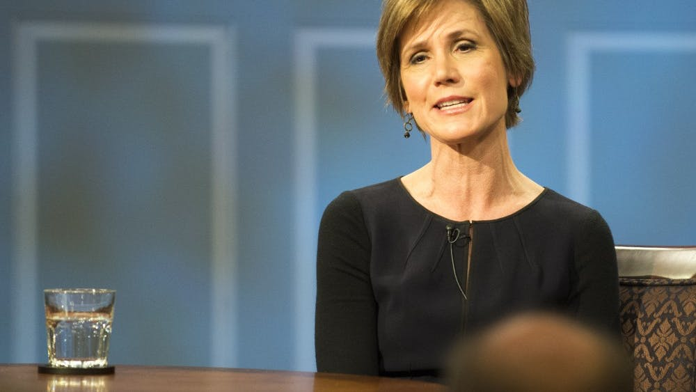 "Sally Yates told Trump she thought his ""travel ban"" was unconstitutional while she was acting U.S. Attorney General."
