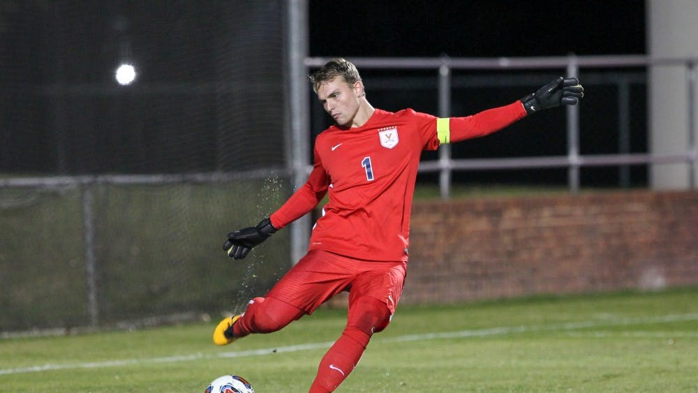 Goalkeeper Jeff Caldwell was among Virginia's seniors who ended their collegiate soccer careers with the loss to Fordham.