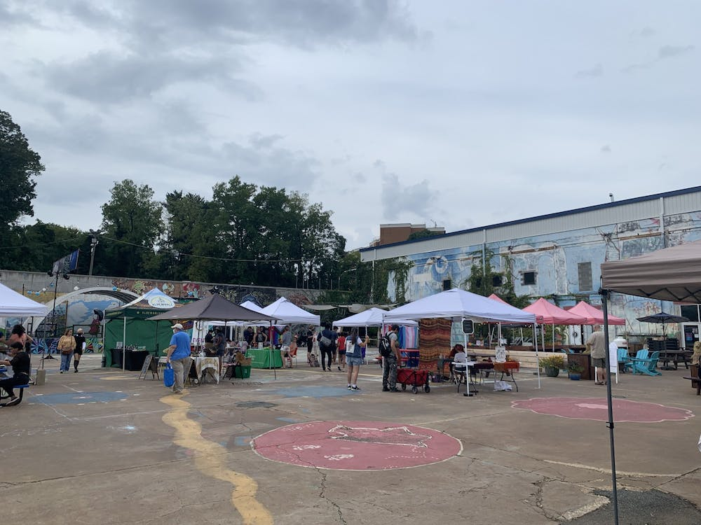 There was an intimate and friendly atmosphere at IX Park Thursday evening, as the Charlottesville Pride Community Network hosted a Thursday Night Market Pride Takeover as part of their weeklong Pride celebration.