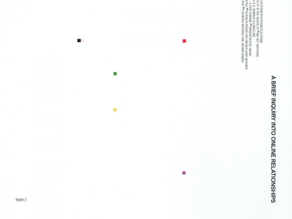 """""""A Brief Inquiry Into Online Relationships,"""" the latest album from Brit-pop sensations The 1975, is another example of a successful group conducting forgettable experiments."""