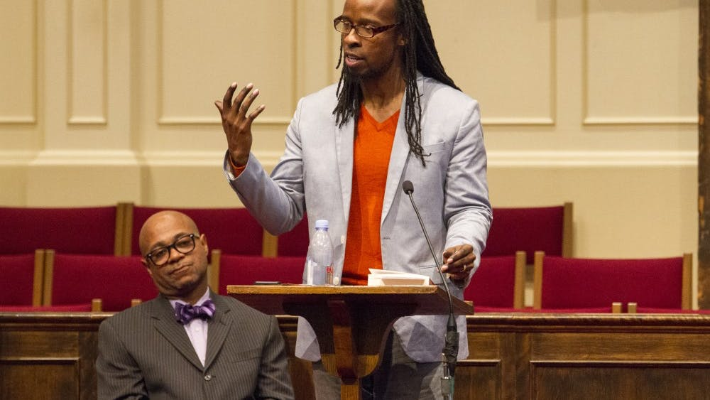 In his lecture, Ibram X. Kendi drew a parallel between the history of Charlottesville in relation to Thomas Jefferson and the presence of the white supremacists in the city in August.