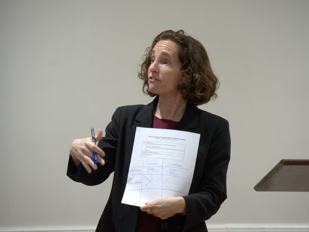 On Feb. 14, Law School Dean Risa Goluboff led a Deans Working Group session soliciting input from the community concerning the legal boundaries of free speech.