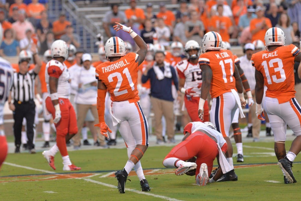 <p>Former Virginia safety Juan Thornhill was chosen in the second round of the NFL Draft by the Kansas City Chiefs Friday night.</p>