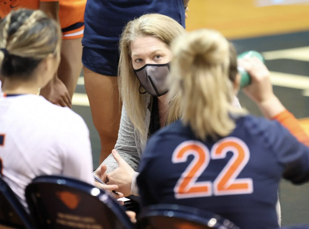 <p>In her first year as Virginia's head coach, Shannon Wells has already led her team to great success this season.</p>