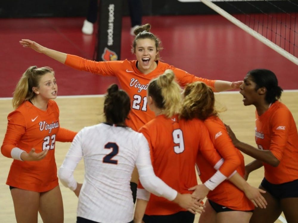 Louisville's strong defense held Virginia to its first negative hitting percentage on the season at -.040.