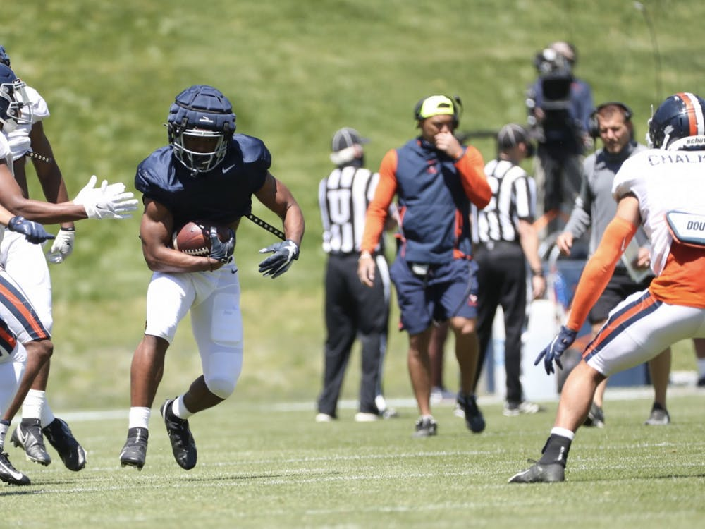Freshman running back Amaad Foston — an early enrollee for the Cavaliers — impressed many with his pass catching abilities Saturday.