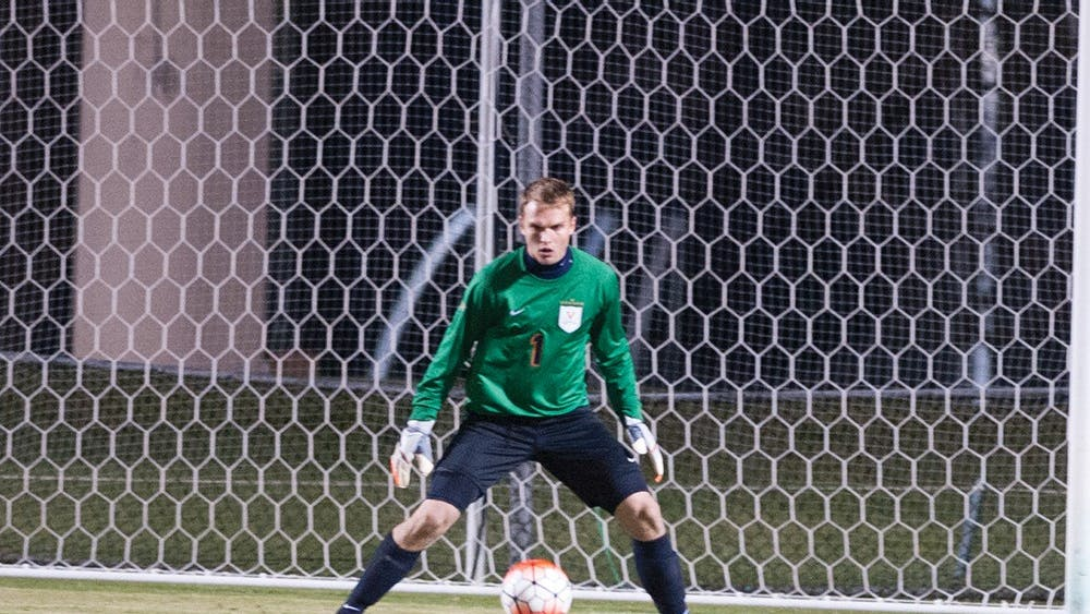 Junior goalkeeper Jeff Caldwell notched five saves in the overtime loss against Wake Forest.