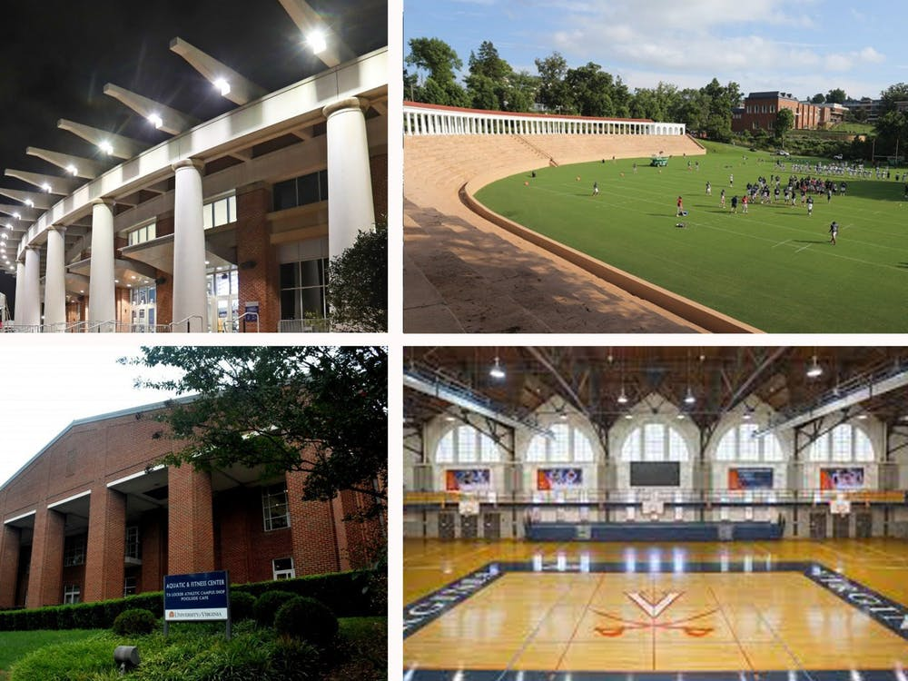 John Paul Jones Arena, Lambeth Field, the Aquatic & Fitness Center and Memorial Gymnasium are just a few of the spots perfect for Virginia fans to visit on Valentine's Day.