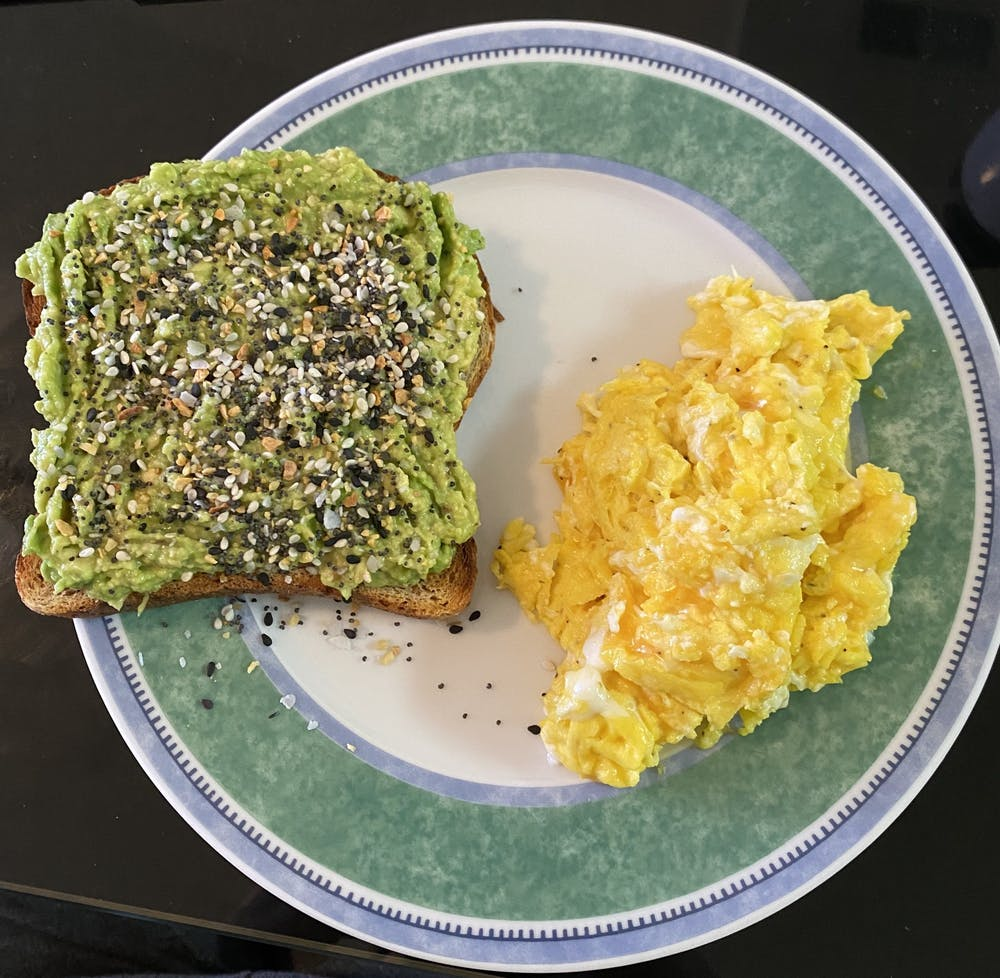 <p>An avocado toast is one of the best quick fixes during finals season for both your hunger and your health!</p>