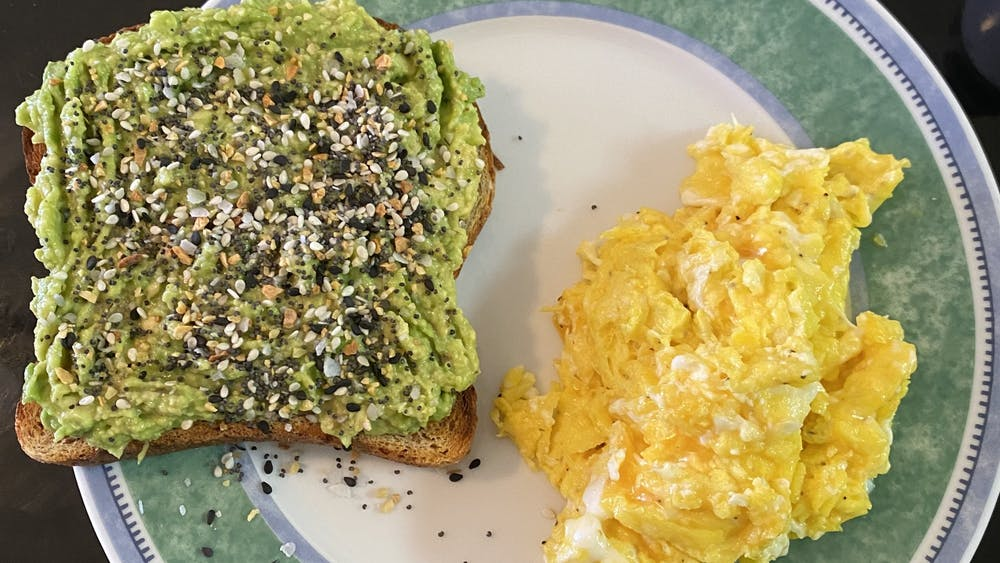 An avocado toast is one of the best quick fixes during finals season for both your hunger and your health!