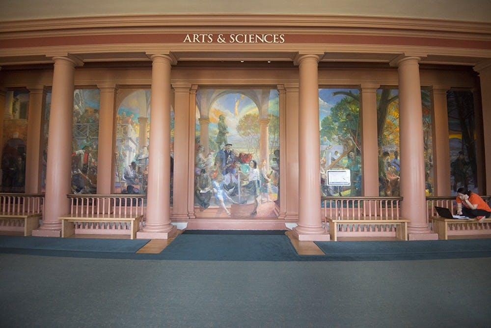 <p>This mural is not representative of our values on Grounds, and should not be on display in Old Cabell Hall.</p>