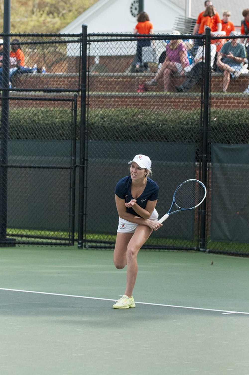 <p>Senior Danielle Collins, a two-time All-American, is one of the key leaders of the Virginia' women's tennis team as one of the team's three captains.</p>