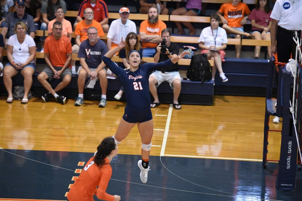 <p>The Cavaliers have been led by sophomore outside hitter Sarah Billiard, who leads Virginia with 3.86 kills per set.&nbsp;</p>