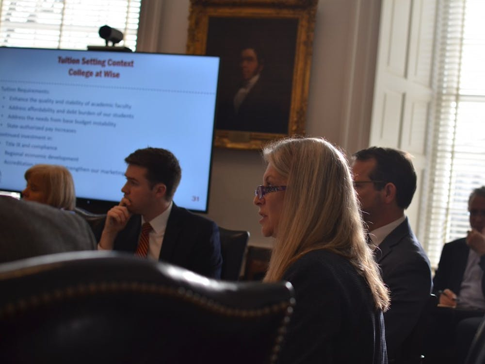 Vice President of Finance Melody Bianchetto spoke on the tuition increases.