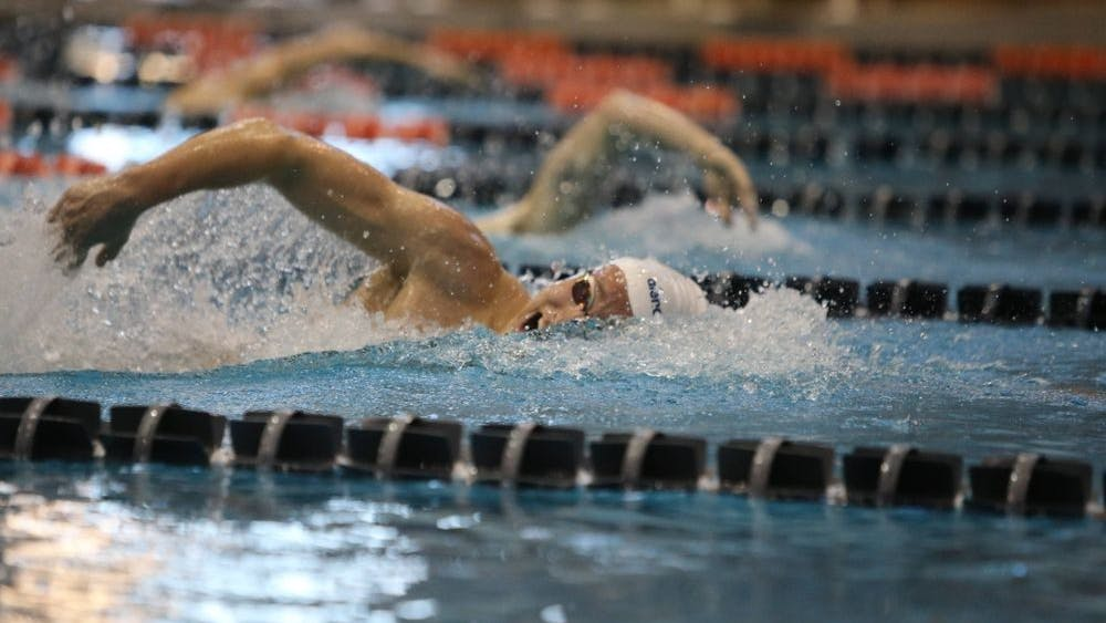 Both the men's and women's swimming teams are nationally ranked, with members of both squads beating personal and conference records left and right.