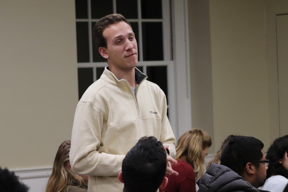<p>During the legislative session, fourth-year College student Lukas Pietrzak, who co-sponsored the Central Grounds Parking Garage bill, encouraged the Representative Body to pass a resolution opposing the now-eliminated 24/7 parking fees at the garage.&nbsp;</p>