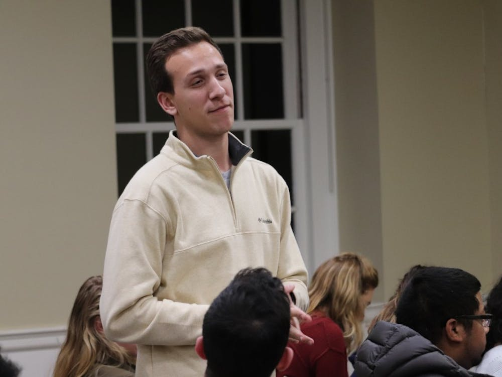 During the legislative session, fourth-year College student Lukas Pietrzak, who co-sponsored the Central Grounds Parking Garage bill, encouraged the Representative Body to pass a resolution opposing the now-eliminated 24/7 parking fees at the garage.