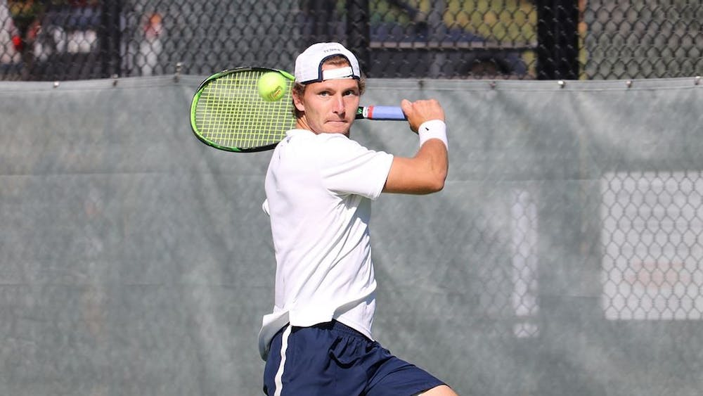 Junior Gianni Ross won all of his matches this weekend, including the decisive singles match against Notre Dame to secure the victory for Virginia.
