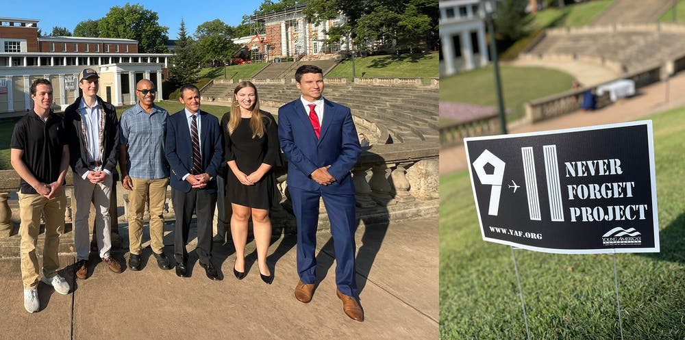 <p>Following the event, Ryan posted three photos to Instagram and Twitter of the flags displayed, the event sign designed by YAF and Ryan standing with students in the organization.&nbsp;</p>