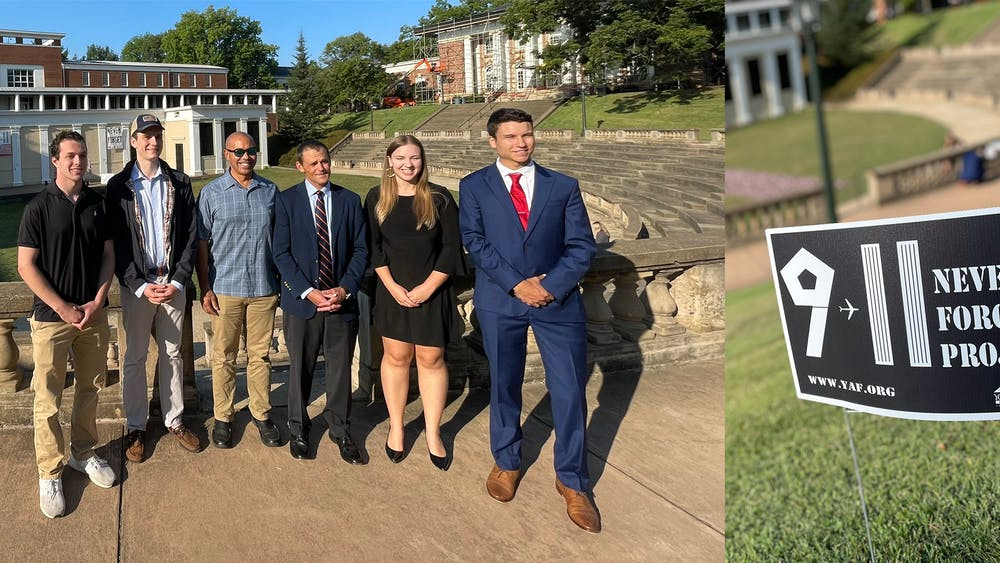 Following the event, Ryan posted three photos to Instagram and Twitter of the flags displayed, the event sign designed by YAF and Ryan standing with students in the organization.