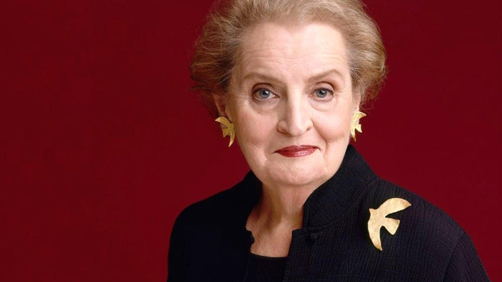 Albright also served in former President Bill Clinton's administration until 2001 and was awarded the Presidential Medal of Freedom in May 2012.