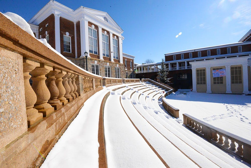<p>Second-year College student Bridget Moran said the snow day is useful in relieving stress.</p>