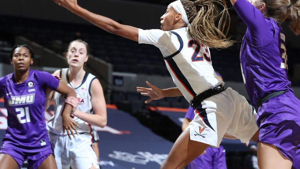 Amandine Toi led the Cavaliers with a career-high 17 points which included three three-pointers.