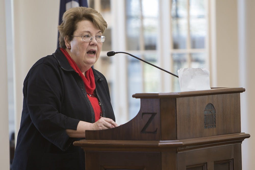 <p>University President Teresa Sullivan named the safety of students as both the University's and her own first priority.&nbsp;</p>