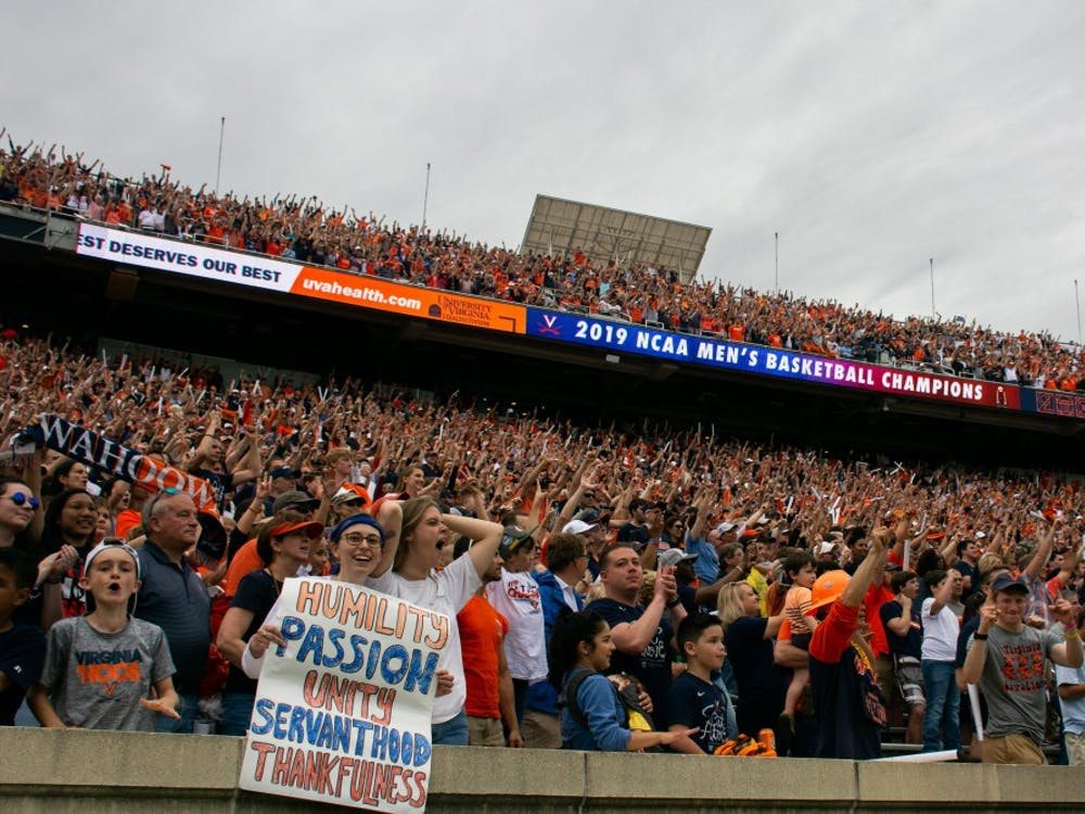 Over 20,000 Cavalier fans came to Scott Stadium Saturday afternoon to witness the championship celebration.