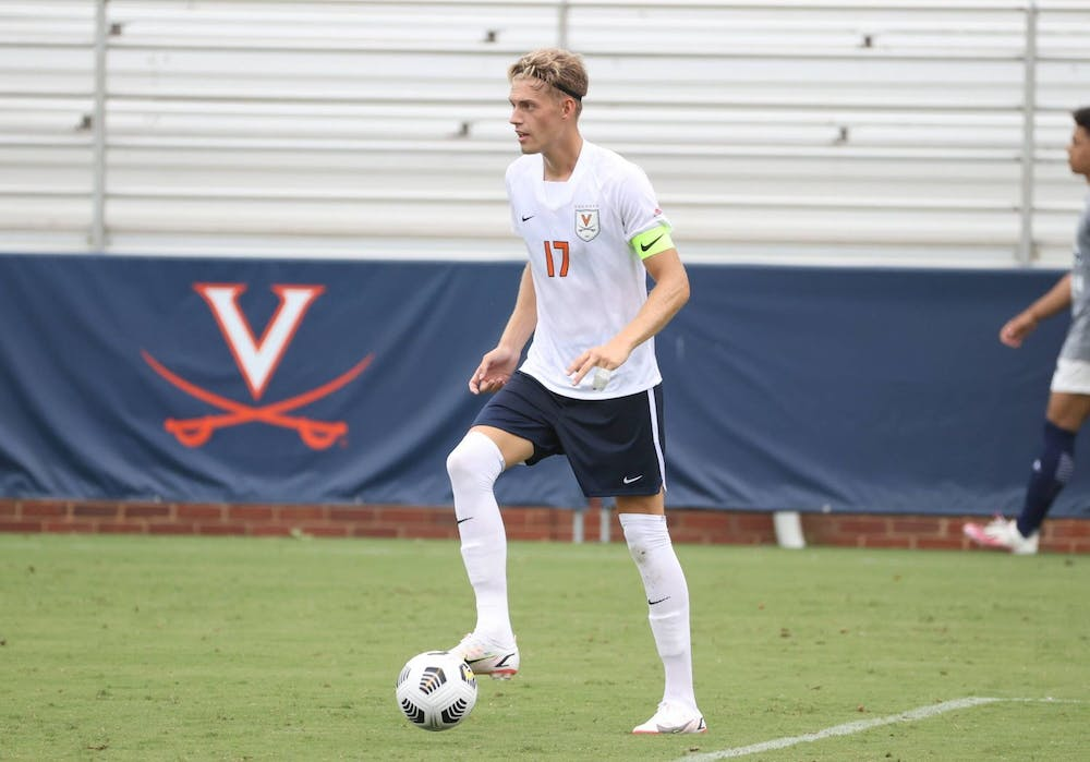 <p>Junior defender Andreas Ueland delivered on two penalty attempts for Virginia to lead the Cavaliers to victory against High Point.&nbsp;</p>